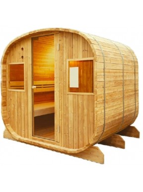 SAUNA BARRIQUE BARREL MASSIF CEDRE ROUGE CANADA