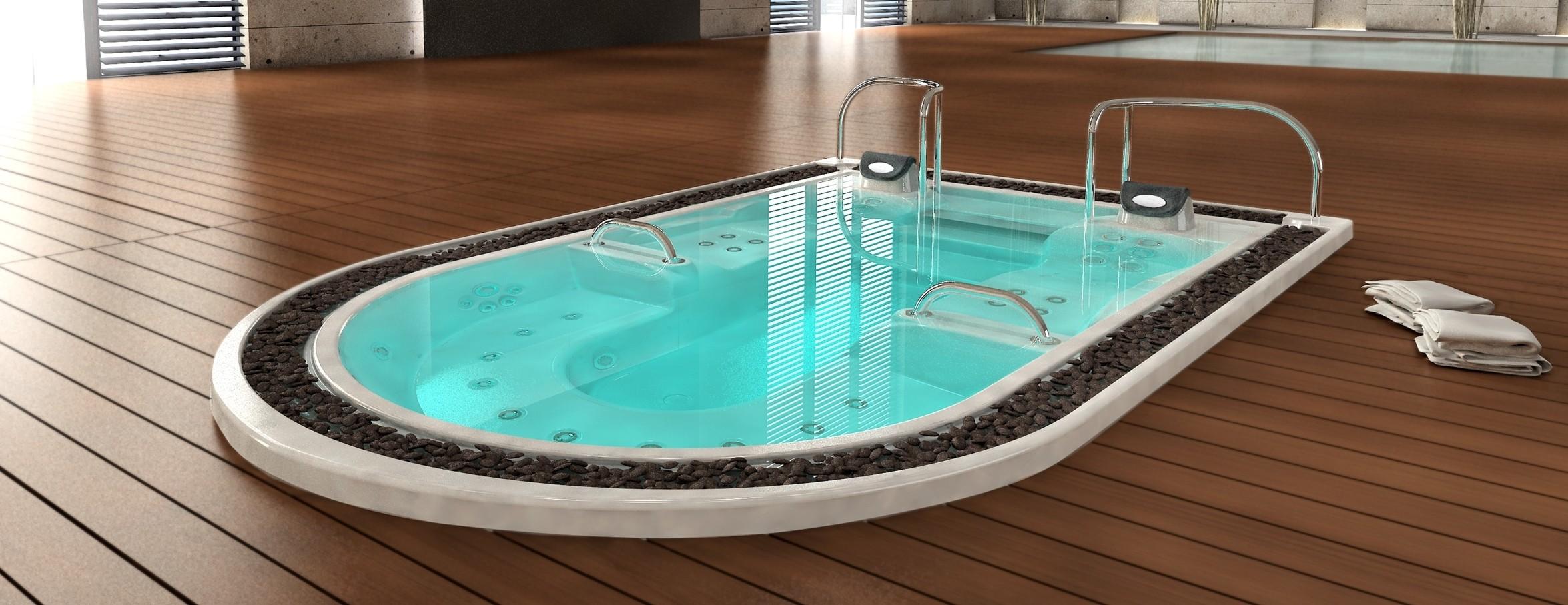 Spa de nage intérieur Aquavia